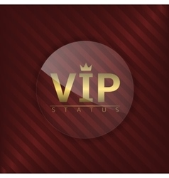 VIP status glass label vector