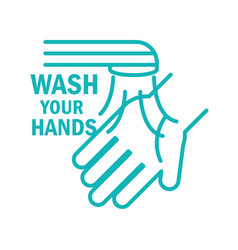 Washing your hands frequently covid 19 pandemic vector