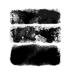 watercolor wide middle brushes set vector image
