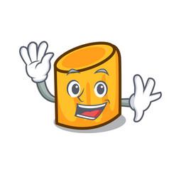 waving rigatoni character cartoon style vector image