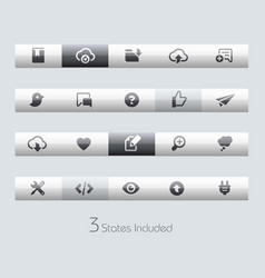 web and mobile 8 - toolbars vector image