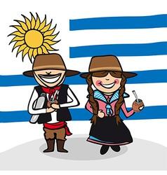 Welcome to Uruguay people vector image vector image