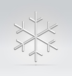 wire snowflake vector image