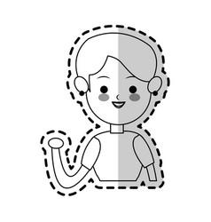 woman cute cartoon icon image vector image vector image