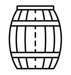 Wood honey barrel icon outline style vector