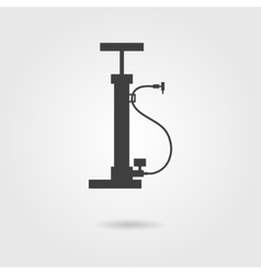 bicycle pump icon with shadow vector image