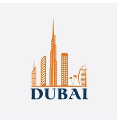Dubai City Skyline design template vector image vector image