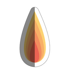fire flame icon over whit vector image