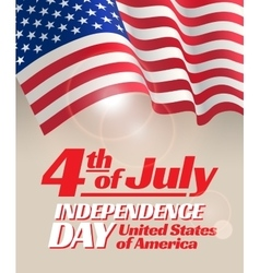 independence day card vector image vector image