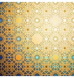 Islamic gold pattern with overlapping geometric vector image vector image