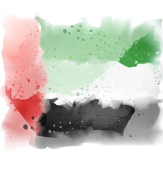 map of United Arab Emirates Watercolor pain vector image vector image