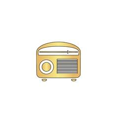 Retro radio computer symbol vector