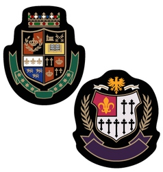Royal crown college badge vector