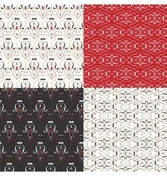 Vintage pattern set vector image