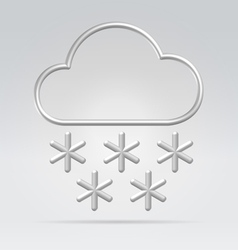 wire weather snow vector image vector image