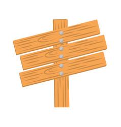 wooden label way icon vector image