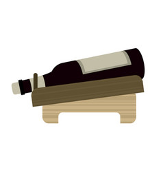 Bottle wine alcohol beverage vector