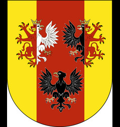 Coat of arms of lodz voivodeship in central poland vector