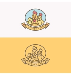 Emblem of chicken farm vector image