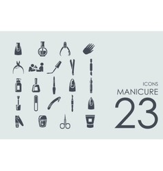 Set of manicure icons vector image vector image