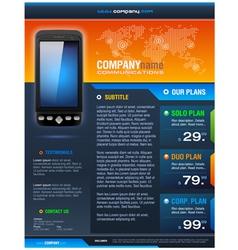Smart Phone Provider Brochure vector image