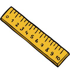 cartoon doodle ruler vector image vector image