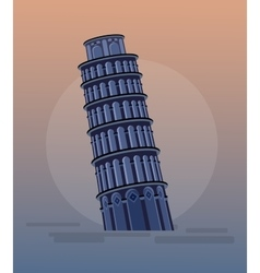 Leaning Tower Pisa Italy Europe vector image
