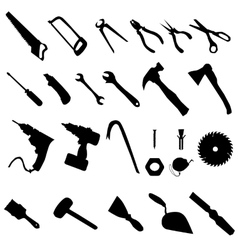 Tools silhouette set vector image