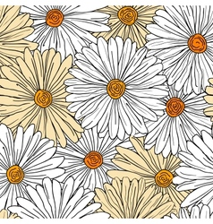 Camomiles seamless background vector image
