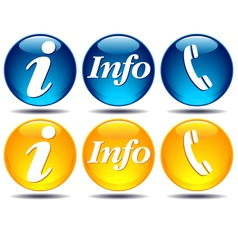 Communication Information icons vector image