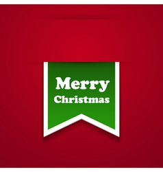 Merry christmas sticker vector image