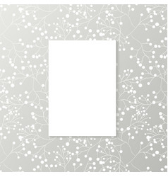 printed grey wallpaper with white blank vertical vector image