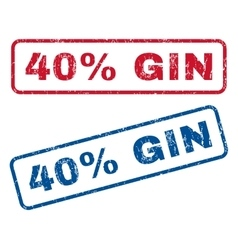 40 percent gin rubber stamps vector