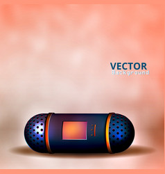 a small speaker for music vector image