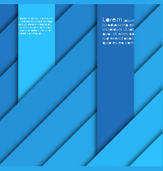 Abstract background with shades of blue stripes vector
