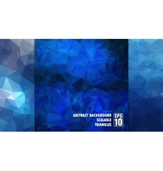 Abstract geometric background of triangles in blue vector image