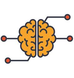 artificial intelligence super brain icon vector image