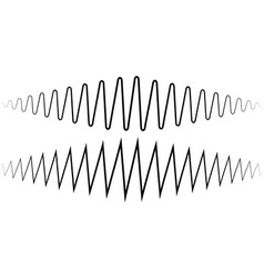 audio sound wave sound wave amplitude tattoo vector image