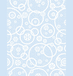 Blue christmas seamless pattern with snowflakes vector