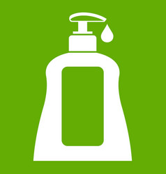 body care lotion icon green vector image