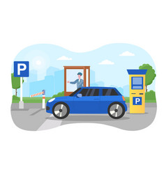 car parking concept vector image