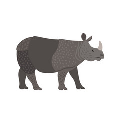 Cartoon wild rhino vector