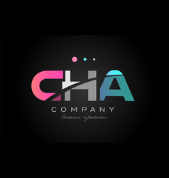 Cha c h a three letter logo icon design vector