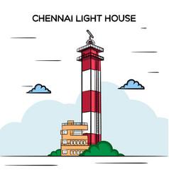 Chennai light house vector