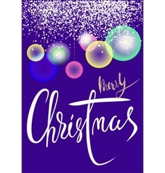Christmas background with transparent colorful vector image