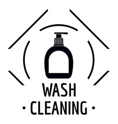 cleaning wash logo simple black style vector image