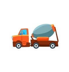 Concrete Mixer Toy Cute Car Icon vector image