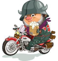 Cool biker vector