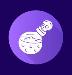 Death potion purple flat design long shadow glyph vector