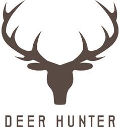 deer head design templatehunting vector image